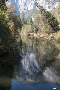 Reflection in the Merced River.